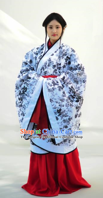 Chinese Ancient Nobility Lady Hanfu Dress Han Dynasty Princess Historical Costumes Complete Set