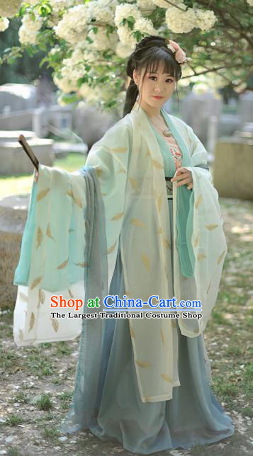 Chinese Ancient Tang Dynasty Palace Princess Historical Costumes Complete Set for Women