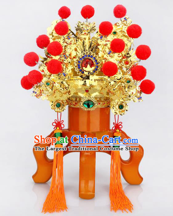 Chinese Traditional Religious Hair Accessories Marshal Guan Feng Shui Taoism Hat