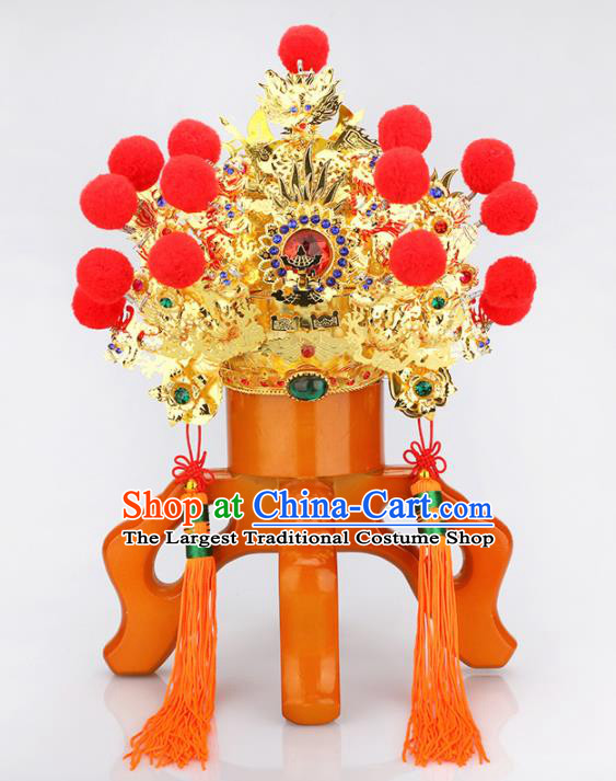 Chinese Traditional Religious Hair Accessories Taoism Feng Shui Marshal Guan Hat