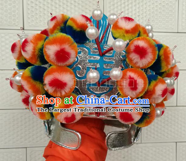 Chinese Traditional Beijing Opera Takefu Headwear Peking Opera Warrior Hat