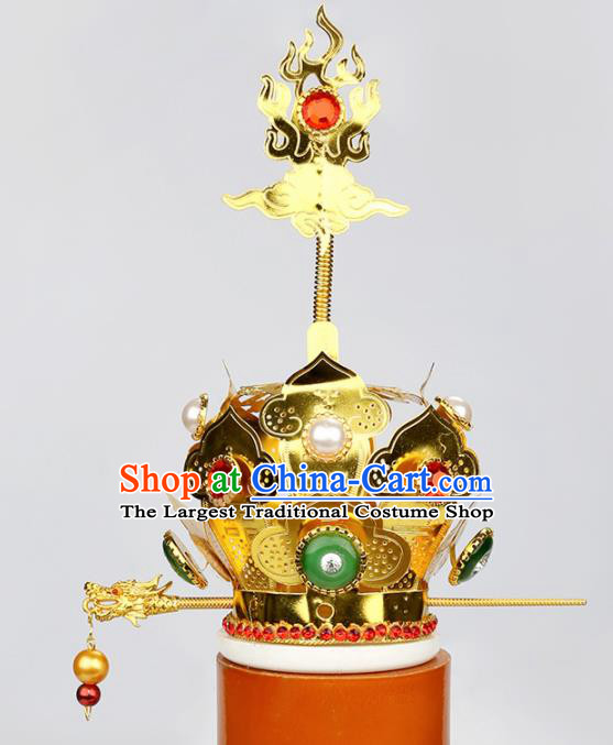 Chinese Traditional Religious Hair Accessories Feng Shui Taoism Taoist Priest Hairdo Crown