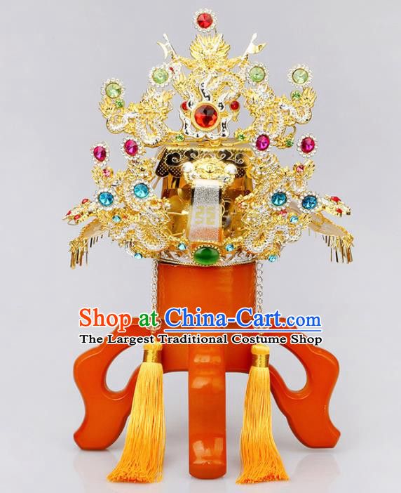 Chinese Traditional Religious Hair Accessories Taoism Feng Shui Town God Hat