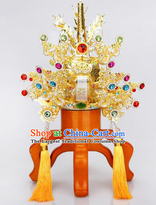 Chinese Traditional Religious Hair Accessories Taoism Feng Shui Emperor Heavenly Hat