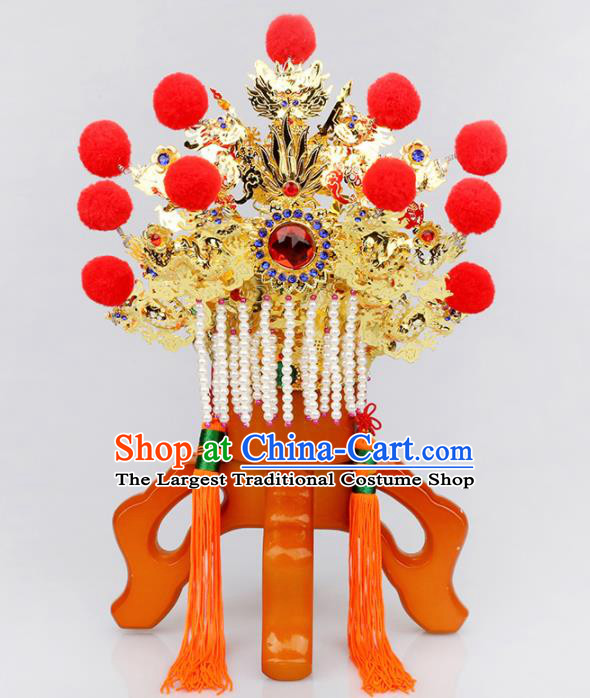 Chinese Traditional Religious Hair Accessories Taoism Feng Shui Crown God Hat