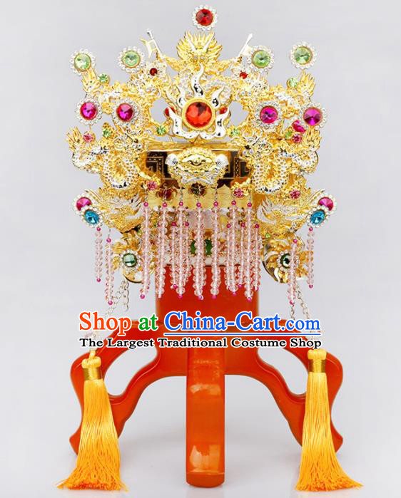 Chinese Traditional Religious Hair Accessories Feng Shui Buddhism Avalokitesvara Hat