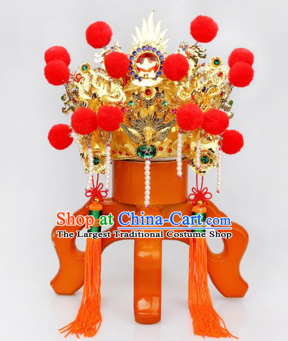 Chinese Traditional Religious Hair Accessories Phoenix Coronet Feng Shui Buddhism Hat
