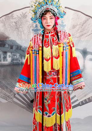 Chinese Traditional Beijing Opera Imperial Consort Costume Ancient Queen Red Palace Dress