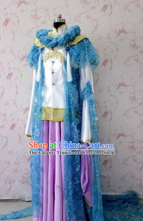 Chinese Ancient Female Swordsman Costume Traditional Cosplay Peri Princess Dress for Women