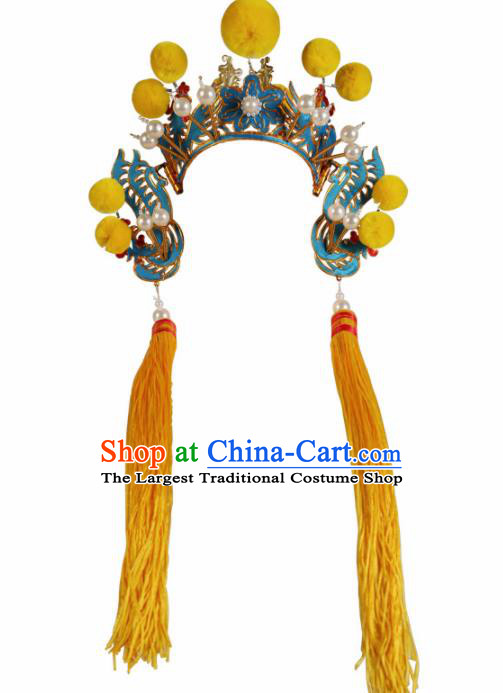 Asian Chinese Beijing Opera Headwear Traditional Peking Opera Pantaloon Helmet Hat