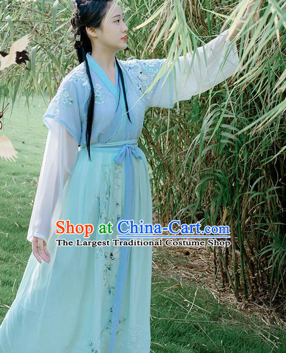 Traditional Chinese Song Dynasty Young Lady Historical Costume Ancient Nobility Hanfu Dress for Women