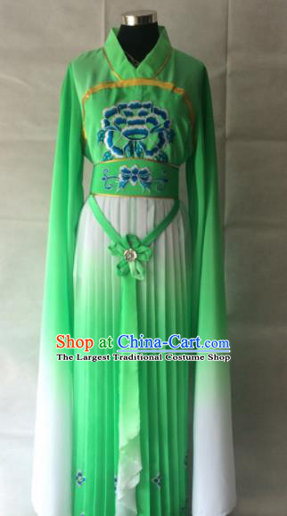Traditional Chinese Beijing Opera Palace Costume Ancient Court Maid Green Dress for Women