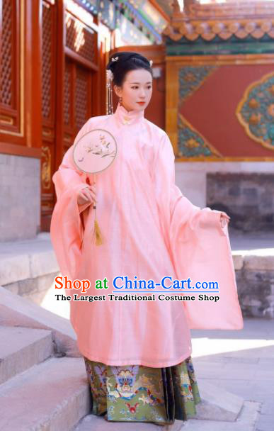 Traditional Chinese Ancient Ming Dynasty Imperial Consort Historical Costume Complete Set