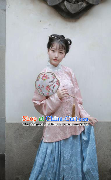 Traditional Chinese Ming Dynasty Princess Historical Costume Ancient Nobility Lady Hanfu Dress Complete Set for Women