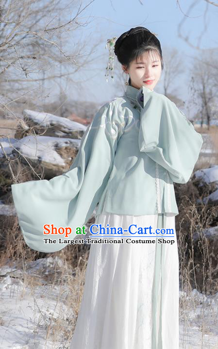 Traditional Chinese Ancient Ming Dynasty Aristocratic Lady Historical Costume for Women