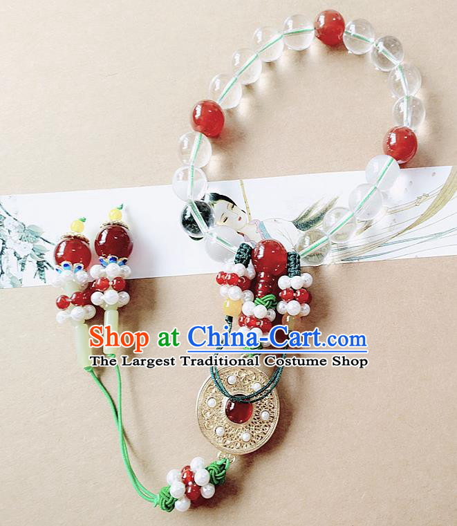 Chinese Ancient Bride Hanfu Jewelry Accessories Prayer Beads Traditional Palace Bracelet for Women
