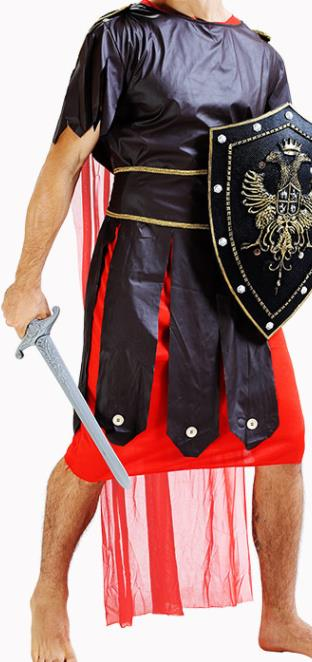 Traditional Roman Male Costume Ancient Rome Warrior Red Tunics Clothing for Men