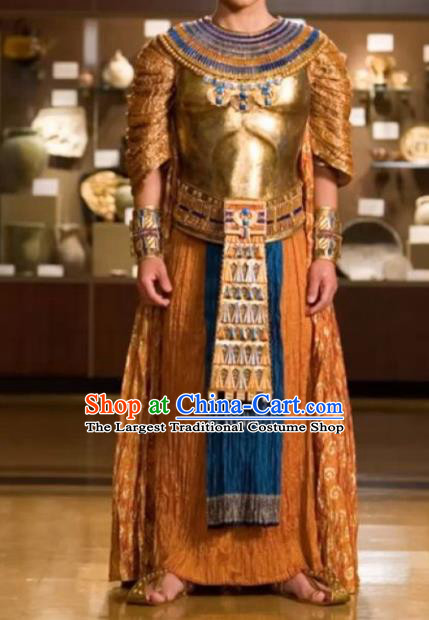 Traditional Egypt King Warrior Costume Ancient Egypt Pharaoh Armor Clothing for Men