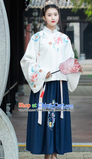 Chinese Ancient Nobility Lady Hanfu Dress Traditional Ming Dynasty Replica Costume for Women