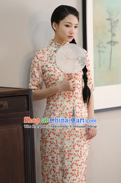 Chinese National Costume Traditional Classical Cheongsam Retro Qipao Dress for Women
