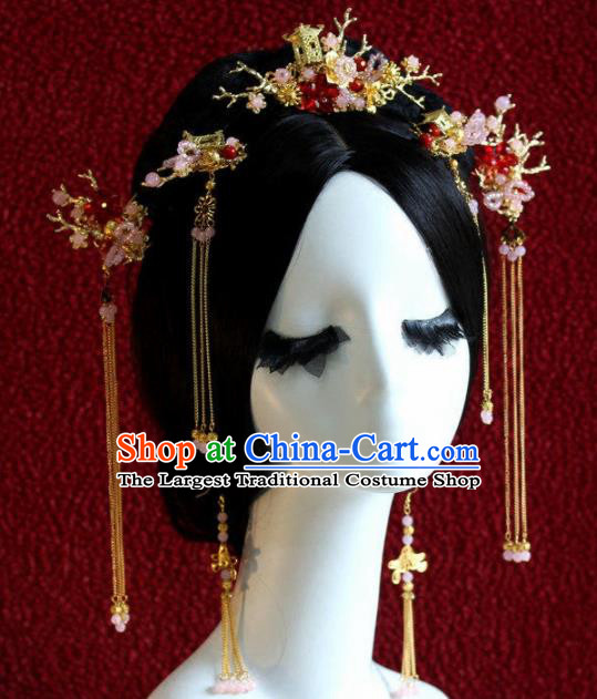Top Grade Chinese Ancient Bride Wedding Hair Comb Hairpins Traditional Hair Accessories Headdress for Women