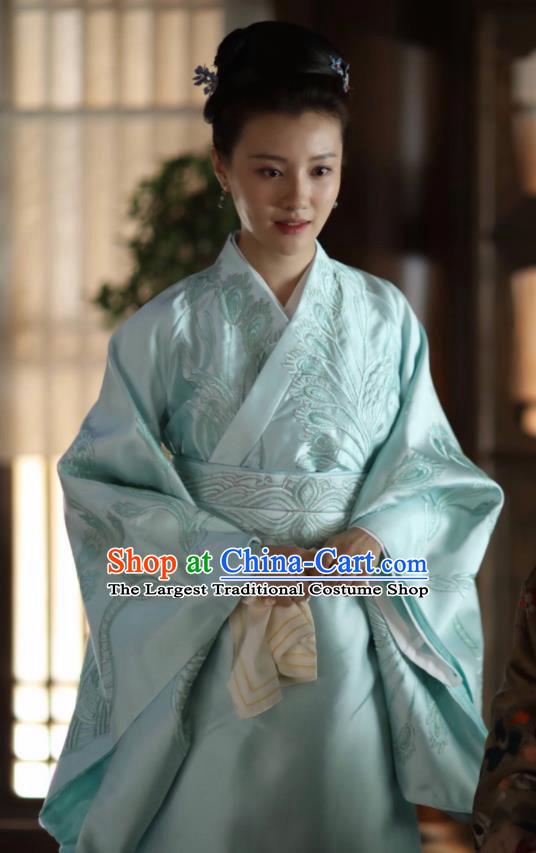 The Story Of MingLan Chinese Ancient Song Dynasty Marquise Embroidered Historical Costume for Women
