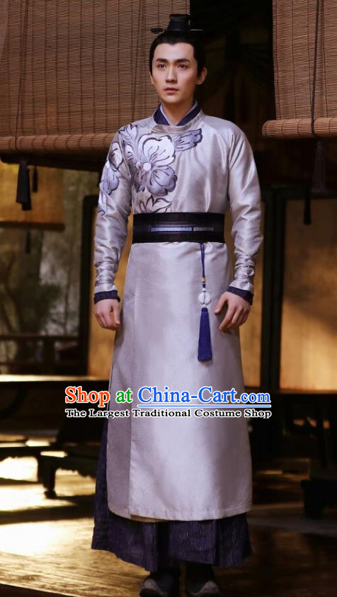 Chinese Drama The Story Of MingLan Ancient Song Dynasty Nobility Childe Embroidered Historical Costume for Men