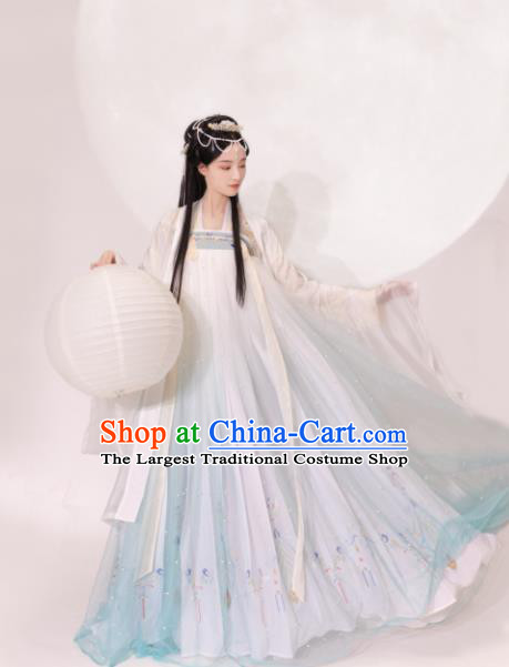 Chinese Traditional Tang Dynasty Princess Hanfu Dress Ancient Drama Peri Costume for Women
