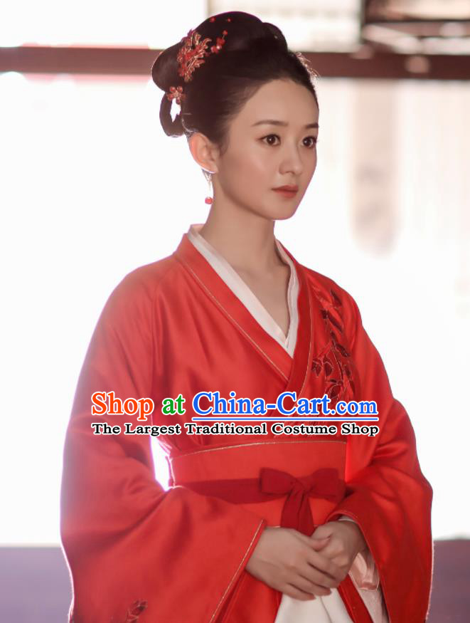 Chinese Drama The Story Of MingLan Ancient Song Dynasty Nobility Mistress Embroidered Historical Costume for Women
