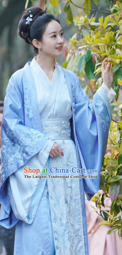 Chinese Ancient Hanfu Dress Drama The Story Of MingLan Song Dynasty Nobility Duchess Embroidered Historical Costume for Women