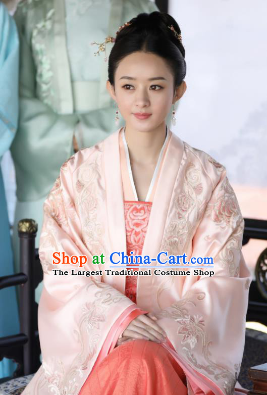 Drama The Story Of MingLan Chinese Ancient Song Dynasty Nobility Lady Embroidered Historical Costume for Women