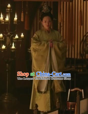 The Story Of MingLan Chinese Ancient Song Dynasty Empress Embroidered Historical Costume for Women