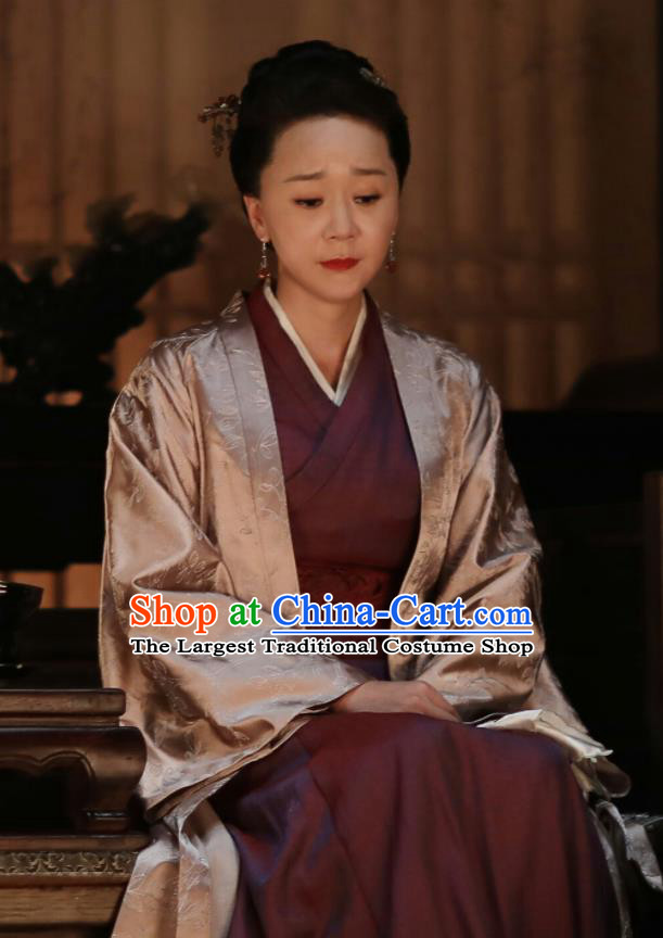 Drama The Story Of MingLan Chinese Song Dynasty Embroidered Costume Ancient Contessa Hanfu Dress for Women