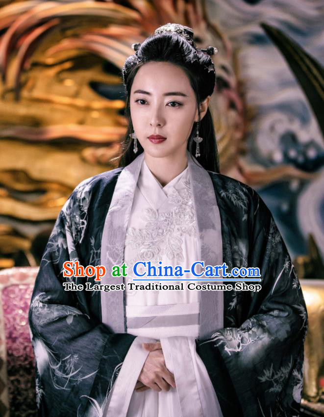 Chinese Ancient Queen Embroidered Hanfu Dress Drama Zhao Yao Swordswoman Traditional Costume for Women