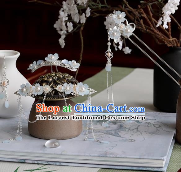 Chinese Traditional Hanfu Hair Accessories Ancient Princess Flowers Hairpins Complete Set for Women