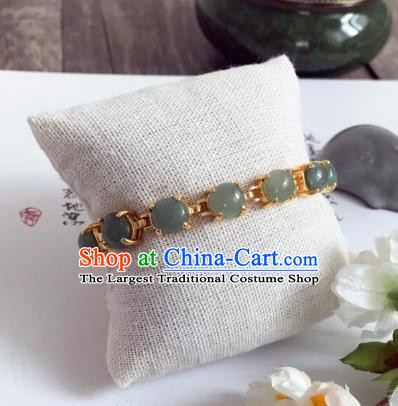 Chinese Traditional Hanfu Accessories Ancient Princess Hanfu Jade Bracelet for Women