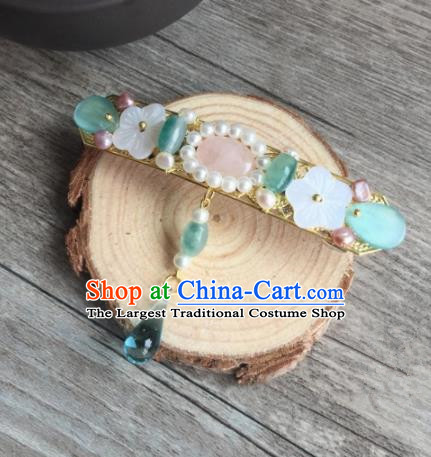 Chinese Ancient Princess Jade Hair Stick Hairpins Traditional Hanfu Hair Accessories for Women