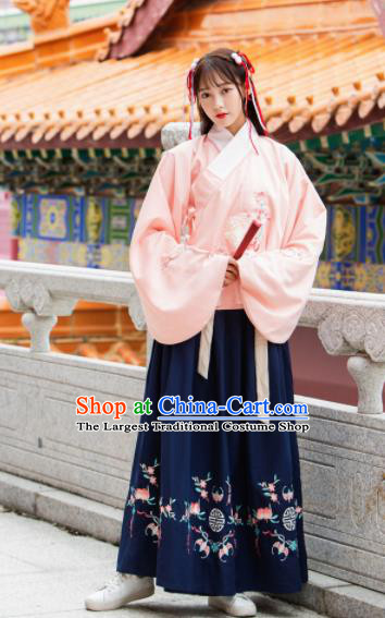 Traditional Chinese Ming Dynasty Princess Historical Costume Ancient Peri Hanfu Dress for Women