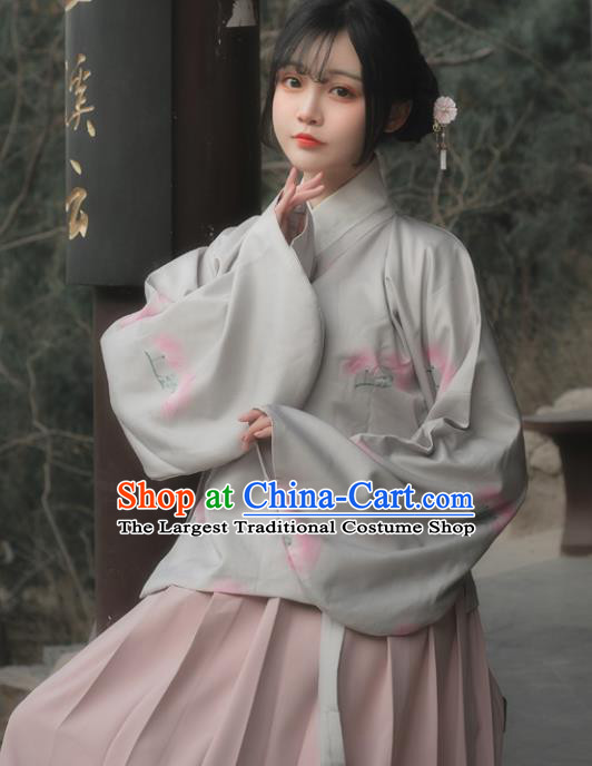 Chinese Ancient Nobility Lady Hanfu Dress Ming Dynasty Traditional Historical Costume for Women