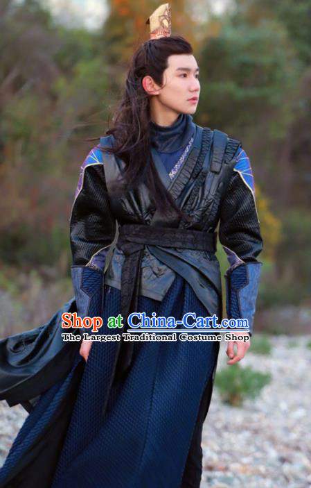 Traditional Chinese Drama Swordsman Hanfu Clothing Ancient Young Hero Knight Replica Costume for Men