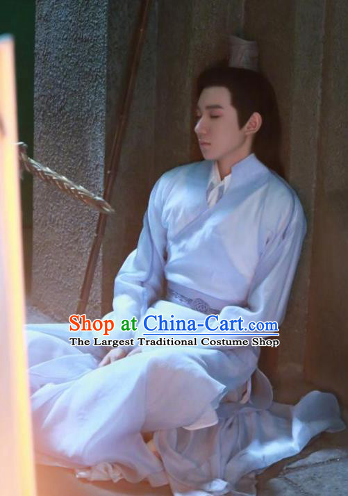 Traditional Chinese Drama Young Swordsman Hanfu Clothing Ancient Knight Replica Costume for Men
