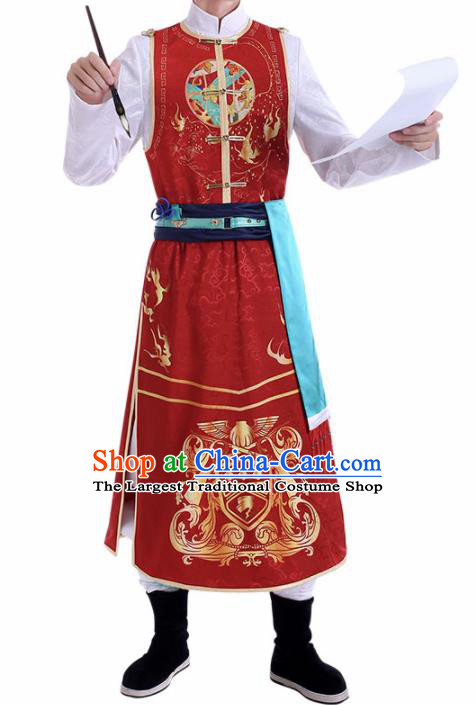 Chinese Traditional Cosplay Nobility Childe Swordsman Costume Ancient Knight Hanfu Clothing for Men