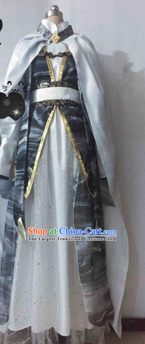 Chinese Traditional Cosplay Nobility Childe Costume Ancient Swordsman Hanfu Clothing for Men