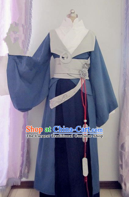 Chinese Traditional Cosplay Prince Costume Ancient Swordsman Hanfu Clothing for Men