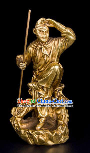 Chinese Traditional Feng Shui Items Bagua Decoration Sun Wukong Bronze Statue