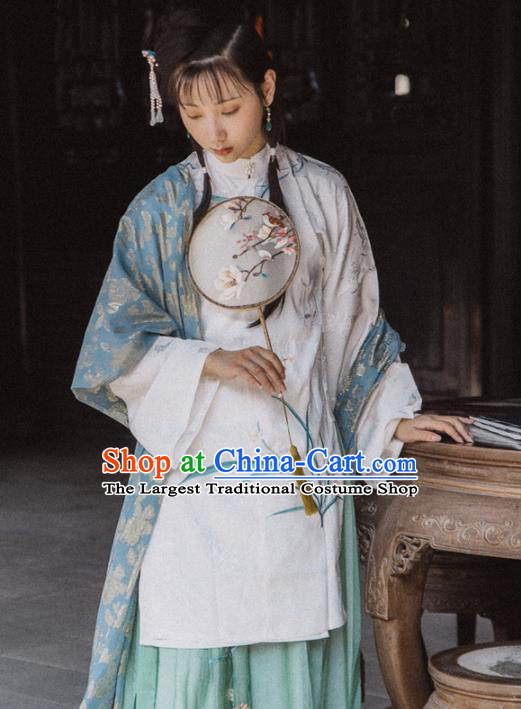 Chinese Traditional Ming Dynasty Nobility Lady Hanfu Dress Ancient Palace Princess Costume for Women