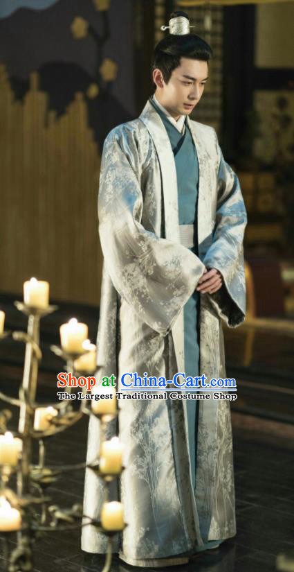 Traditional Chinese Ancient Drama Nobility Childe Replica Costume Tang Dynasty Prince Embroidered Hanfu Clothing for Men