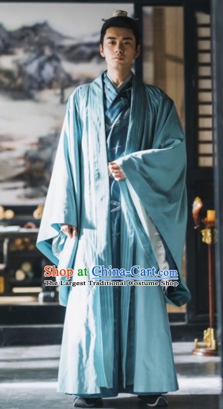 Chinese Ancient Drama Tang Dynasty Nobility Childe Prince Embroidered Replica Costume for Men