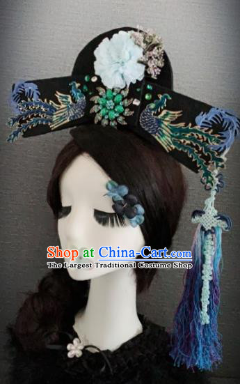 Traditional Chinese Ancient Palace Phoenix Hair Accessories Qing Dynasty Queen Headwear for Women