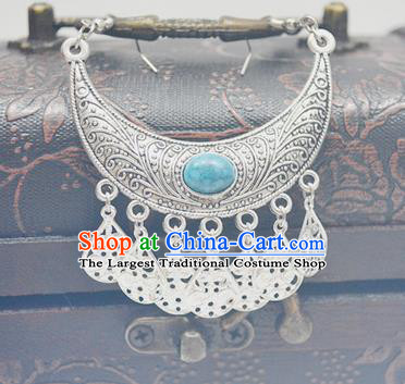 Chinese Ancient Princess Eyebrows Pendant Traditional Han Dynasty Palace Hair Accessories for Women